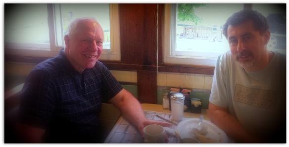Paul Schlieben and me in Peterboro Diner
