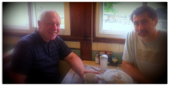 Paul Schlieben and me in Peterboro Diner